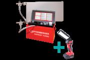 """Rothenberger Rofrost Turbo 1.1/4"""" csőfagyasztó gép készlet + RO FL180 LED lámpa"""